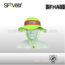 Chapeau tricoté de haute sécurité à haute visibilité avec 100% polyester