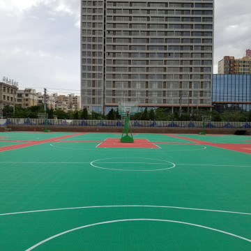 Lantai lapangan basket interlocking modular luar