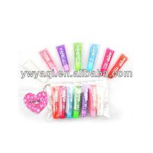 T123 soft tube lip gloss set