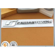 Customized Rectangle Chrome ABS Car Flag Metal Badge