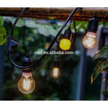 Luces para decoración de patio Iluminación de cuerda colgante de 48 pies con 15 tomas sueltas, cable de extensión de 10 pies SLT-172