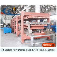 Discontinuous pu sandwich panel machine/ metal pu sandwich panel line