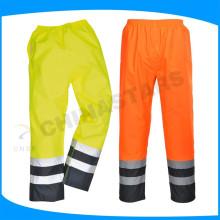 Pu de recubrimiento 300D oxford hi vis pantalones impermeables