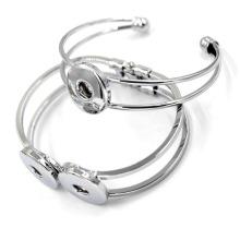 63mm Silver Free DIY Magnetic Snap Button Bracelet