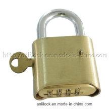 Candado, candado de combinación con bloqueo de llave maestra (AL-B500)
