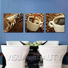 Искусство на холсте, обернутое кофе, для столовой