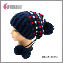 Winter Fashion Damenhut mit POM POM