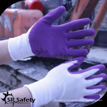 SRSAFETY фиолетовые пены латексные детские защитные перчатки