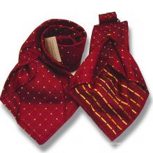 Corbata para hombre de 7 pliegues en lana de seda combinada Hojas para corbata de siete coronas de seda dobladas