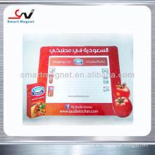 De alta calidad de goma de publicidad magnética del refrigerador tablero de escritura