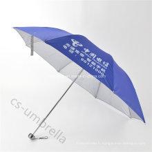 Le meilleur parapluie de pli de l'auvent 4 couvert par argent bleu (YS4F0010)