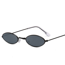 China Vintage Style Small Frame Shade Glasses Woman and Man Sun Glasses Fashionable Metal Sunglasses