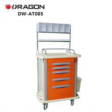 High quality ABS plastic multifunction anesthesia emergency medical trolley