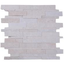 Factory Price Elegant White Color Nature Quartz Mosaic Tile Backsplash