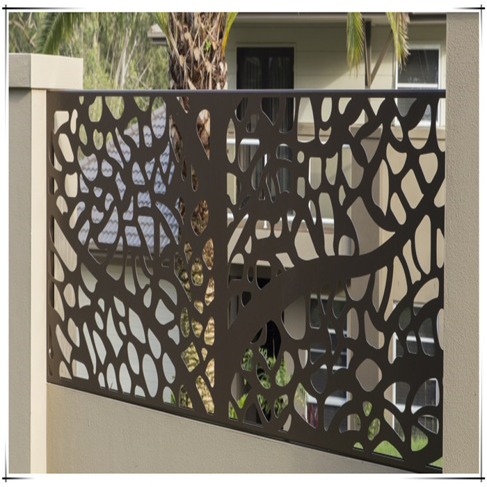 Laser Cut Outdoor Metal Fence