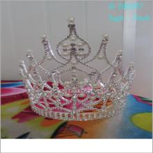 Großhandelsart und weiseperle große Festzugtiara volle hohe Könige krönt Abbildungen