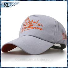 custome 5panel baseball cap and logos made in china