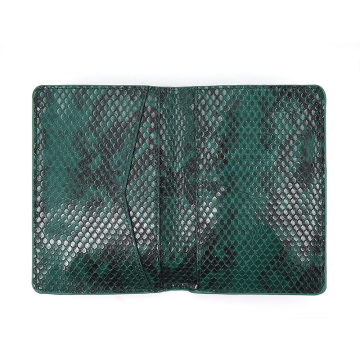 Custom Logo Snake Leather Travel Wallet Passport Cover