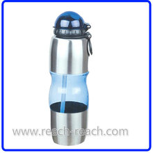 Reisen Sie Sport Wasser Plastikflasche mit Stroh (R-1134)