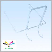 Gancho colgante de la forma del alambre de metal del blanco del superventas w para la exhibición del supermercado