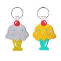 Ice Cream Key Chain Including 3cm Metal Ring