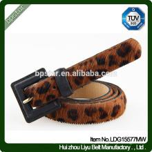 Leather Women Belt Leopard Thin para Mulheres Fêmea Jeans Jeans Casual Ceinture Cintos Designer Straps