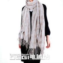 Jacquard & printed cashmere shawl