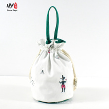 Simply portable canvas drawstring bag