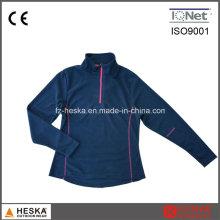 Moletons exterior 1/4 do Zipper mulheres casaco forro polar
