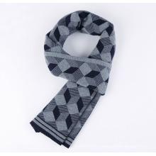Мужская мода шерсть нейлон акрил сплетенные зима теплый шарф (YKY4603)