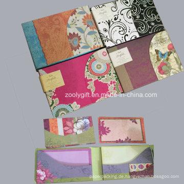 Hinweis Portfolio Tri-Fold Notecards mit Umschlägen