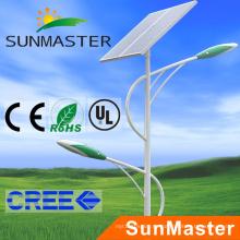 Iluminación de alumbrado de seguimiento solar superventas 60W con poste de los 8m