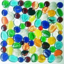 Декоративные стеклянные самородки, мозаика из стеклянной гальки