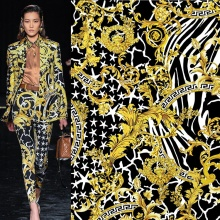 Custom Printed Digital Cloth Scuba Crepe Polyester Fabric