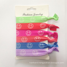 Smiling Face Elastic Band Hair Ties (HEAD-325)