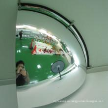 Espejo de esquina de cúpula de cuarto de baño en espejo de vidrio convexo