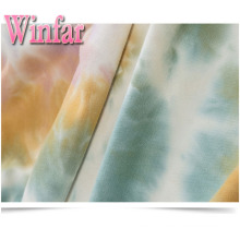 Polyester extensible Spandex Brosse Tie Dye Barboteuse Tissu