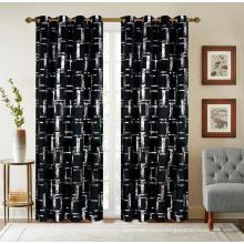 Foil Velvet Grommets Curtain