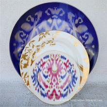 2021 new design 71PCS new bone china  crockery dinner set abstract ceramics blue dishes plates Western food dish dinnerware sets