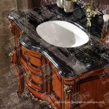 Gabinetes de madera clásicos del cuarto de baño del cuarto de baño del cuarto de baño de madera