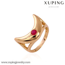 11143 xuping moda dedo 18k ouro capina anéis com pedra