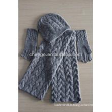 2013 écharpes et chapeaux de cachemire d'hiver de mode