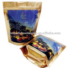 La venta caliente se levanta el bolso plástico de empaquetado de la comida de las fechas de la bolsa