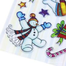 Casa da neve do inverno da aguarela homem adesivos DIY etiqueta pacote diário deco neve Die Cut Vinyl Kid Adesivos