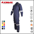 yellow 100% cotton flame resistant coveralls with reflective tape