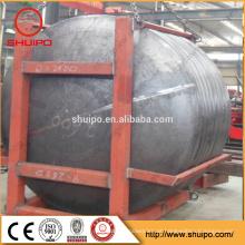 vaso de pressão da caldeira tanque de aço usado prato final