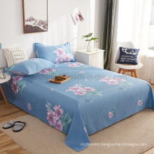 Home Product Bed Sheet Set Best Quality Hypoallergenic Single Light Sky Blue Printing Bedding Set