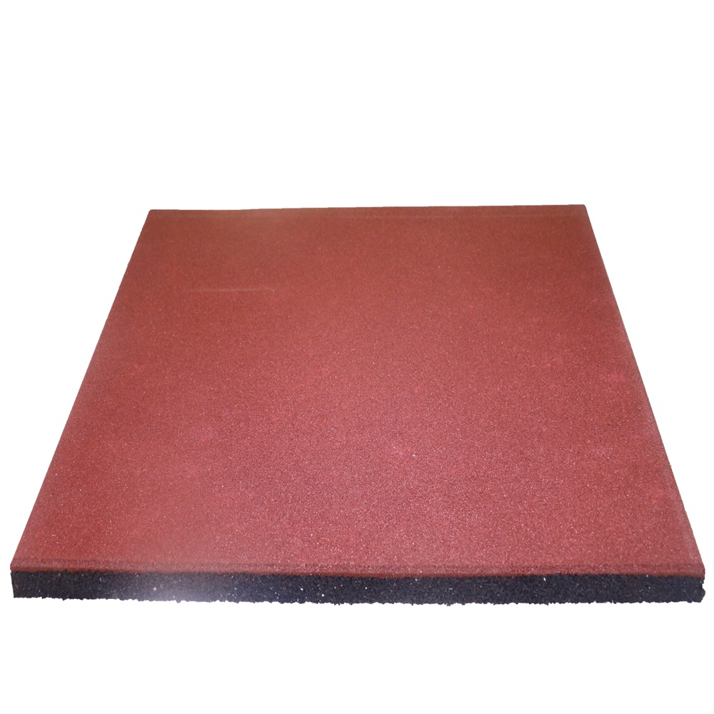 Red Rubber Tiles Flooring For Playground