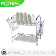 Multi-Function Two-Tier Dish Rack with Utensil Holder