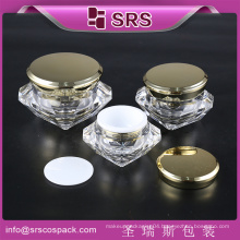 Wholesale Luxury Diamond Shape Snail Cream 50g Container And Plastic Cosmetic Packaging Cream Jar